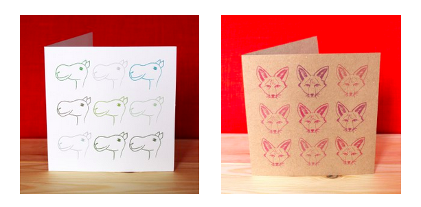 Limited Editions Fox Camel Greeting Cards