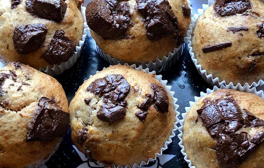 banana chocolate muffins recipe Isabell isapisa